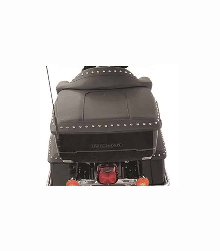 Mustang Tour Pak Lid Covers for Harley-Davidson FL Touring 93-13 Black Pearl