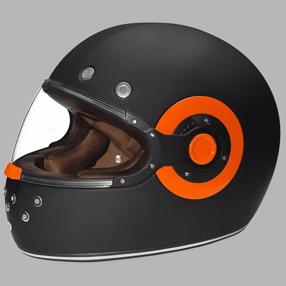Daytona Helmet Retro R1 w/ Orange Accents