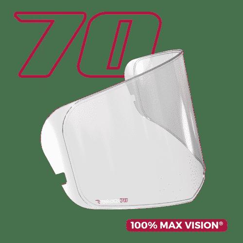 PINLOCK 70-R LENS- CLEAR